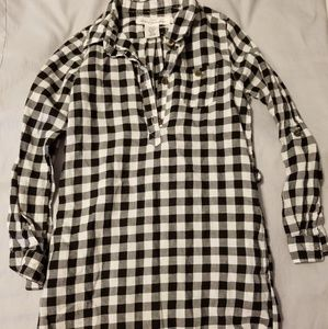 Girl's plaid shirt dress